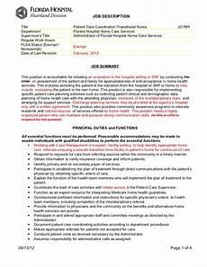 Nursing Supervisor Job Description Patient Care Coordinator Job Description
