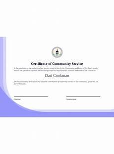 Social Service Certificate Format Community Service Certificate Template Pdf Templates