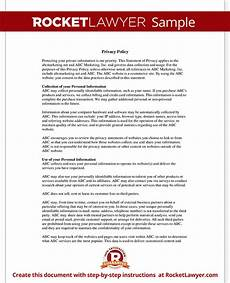 Privacy Policy Sample Online Privacy Policy Template Create Your Website