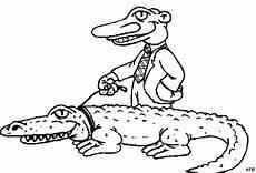krokodil und mensch ausmalbild malvorlage tiere