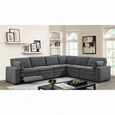 Gray Reclining Sectional Sofa 3d Image by Charcoal Gray 6 Power Reclining Sectional Sofa