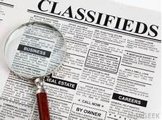 Parts Of A Newspaper Top Categories For Classified Advertisement Newspaper