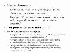 Examples Of Personal Mission Statements For Career Personal Mission Statements College Homework Help And
