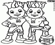 ausmalbilder maskottchen der uefa 2012 zum ausdrucken