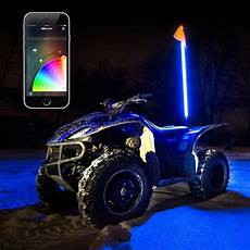 Led Whip Lights For Utv 1x Whip Xkchrome App Control Led Whip Light Kit For 4x4