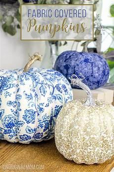 diy fabric covered pumpkins fall decor diy crafts