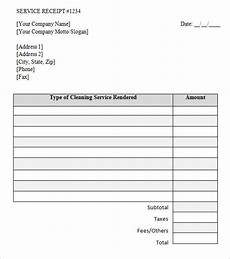 Receipt For Service Template Free 9 Service Receipt Templates In Google Docs Google