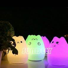 Cat Night Light Usb Cute Silicone Cat Led Night Light Creative Usb Recharge