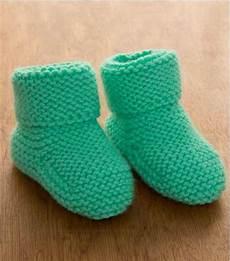 minty garter stitch baby booties allfreeknitting