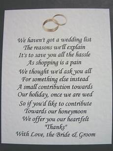 Wedding List Poems 40 Wedding Poems Asking For Money Gifts Not Presents Ref