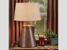 Antique Copper Teapot Lamp with Shade Park Designs