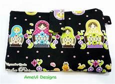 Amevi Designs Small Black Russian Dolls Horizontal Velcro Handphone Case
