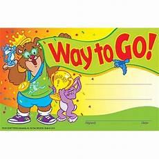 Child Award Certificate 30 Kids Way To Go Award Children S Certificate Pad