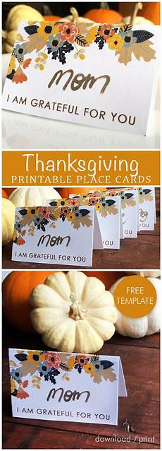 thanksgiving ace cards templates free printable place card template for your