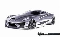 Auto Design Concept Supercar Design Sketch By Gary Ragle Car Body Design