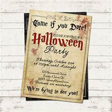 Free Printable Halloween Party Invitations For Adults Halloween Party Invitation Creepy Vintage Old Paper