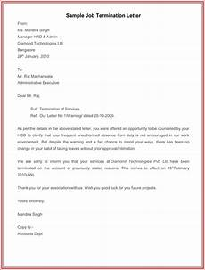 Employee Termination Letter Sample 7 Employment Termination Letter Samples To Write A