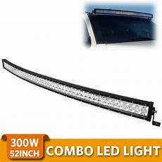 Yitamotor 50 Inch Light Bar 52 Quot Inch 300w Curved Led Light Bar Combo Offroad Roof Light