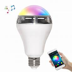Medion Audio Led Light Bulb Speaker Ts D03 Smart Wireless Bluetooth Speaker Led Lamp White