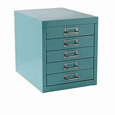 spencer 5 drawer desktop cabinet aqua officeworks