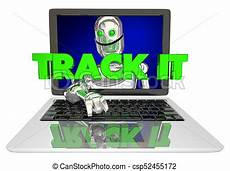 Computer Track Track It Robot Laptop Computer Tracking Visitors 3d