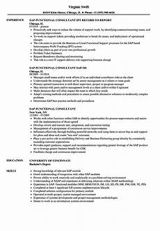 Sap Consultant Resume Sap Fico Resume 5 Years Experience Download