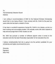 Sample Letter Of Recommendation For Scholarship Free 32 Sample Letters Of Recommendation For Scholarship
