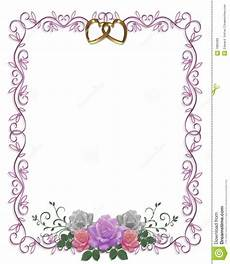 Wedding Page Border Wedding Invitation Floral Border Roses Stock Illustration