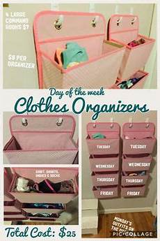 clothes organizer days of the week days of the week clothes organizer for i plan to try