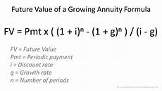 Future Value Of Future Value Of A Growing Annuity Formula Double Entry