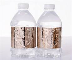 Wedding Bottle Label Carved Initials Rustic Wedding Bottle Labels Labelsrus