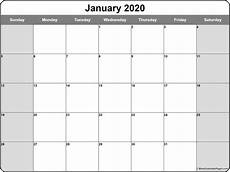 2020 Printable Monthly Calendar With Holidays January 2020 Calendar Free Printable Monthly Calendars