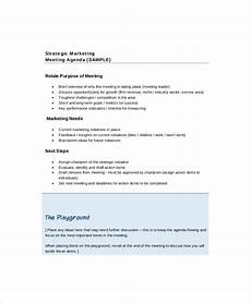 Draft Agenda Template 12 Strategy Meeting Agenda Templates Free Sample