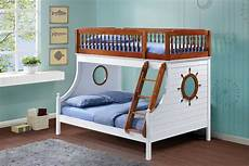 harrah bunk bed in oak and white