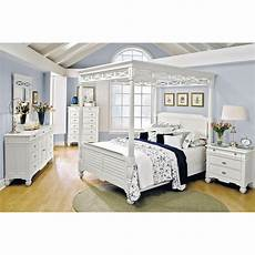 White Bed Canopy Plantation Cove White Canopy Bed Value City Furniture