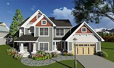 four bedroom craftsman with den 890018ah architectural