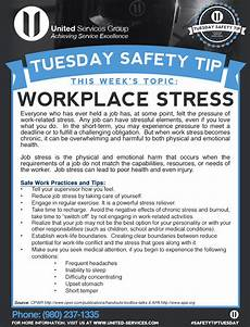 Office Meeting Topics This Week S Tuesday Safety Tip Is About Workplace Stress