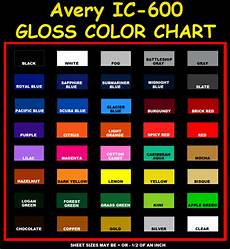 Avery Supreme Colour Chart Click The Logo Above To View An Online Color Chart For