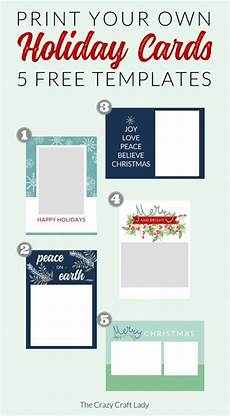 Card Templetes Free Christmas Card Templates The Crazy Craft Lady