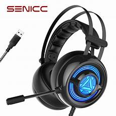 Bluedio Gaming Headphones7 Sound Card by Original Senicc W263 Usb Gaming Headset With Mic Led Gamer