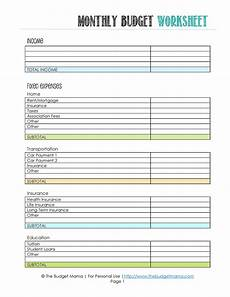 Budget Plan Worksheet The Beginner S Guide To Budgeting Fearon