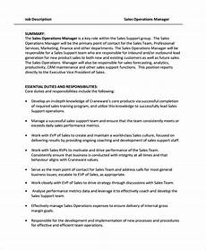 Director Of Sales Resume Free 7 Sample Director Of Operations Resume Templates In
