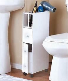 slim space saving rolling bathroom storage organizer