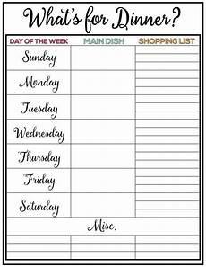 Free Weekly Menu Templates Weekly Menu Plan 34 Skip To My Lou