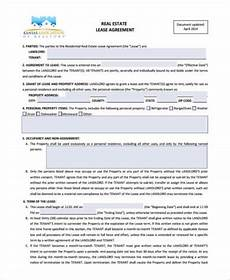 real estate lease free 10 sample real estate lease forms in pdf ms word