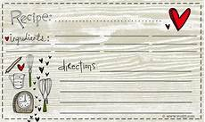 Recipe Card 3x5 Template by Grows Lovely
