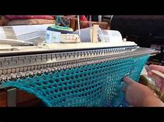 crochet like stitch on knitting machine