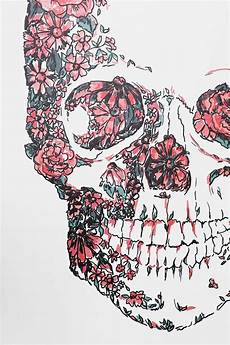 floral skull iphone wallpaper floral skull wall decal outfitters anatomy