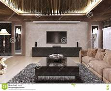 tv unit in luxury living room designed in modern style