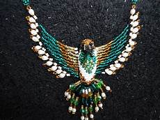 vintage american beaded hummingbird necklace